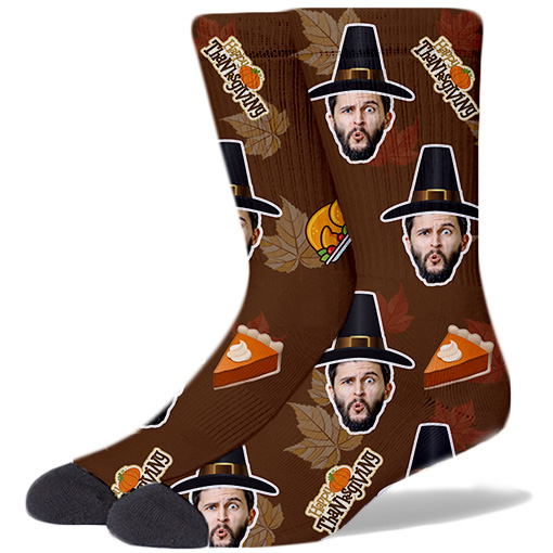Thanksgiving Product Socks BROWN