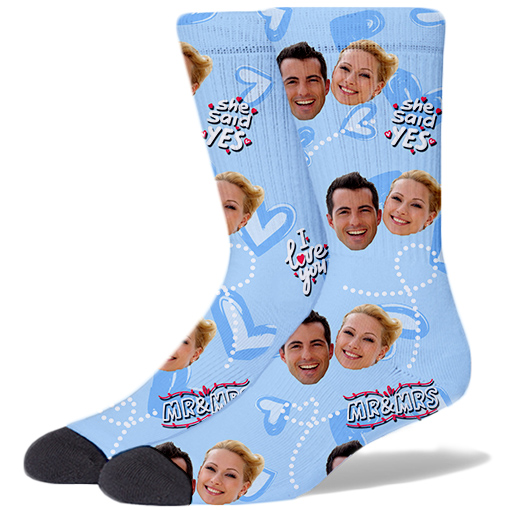 Wedding Product Socks SKY BLUE