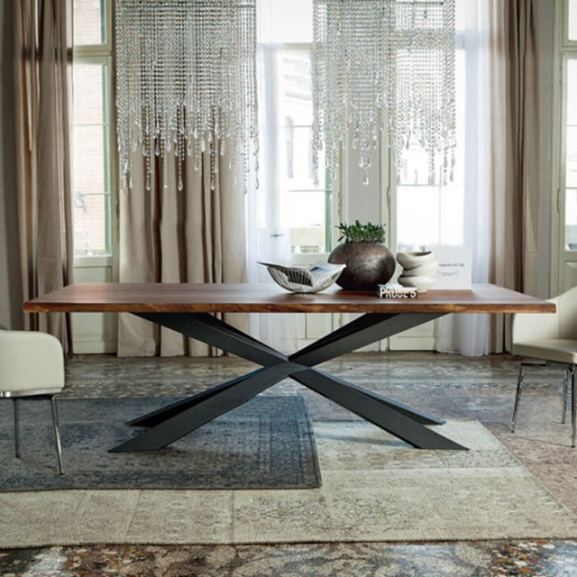 702-high quality modern light luxury metal dining table made by china luxury and modern furniture factory and company-furbyme