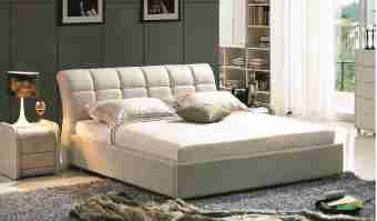 A8621-high quality upholstered leather king bed made by china luxury and modern furniture factory and company-furbyme
