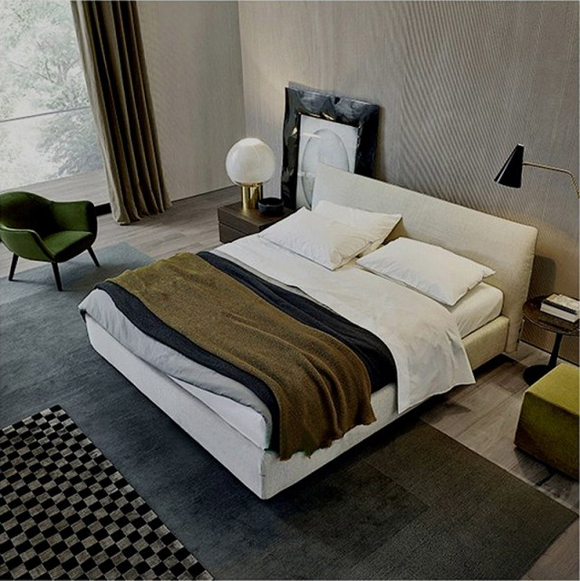 -high quality fabric bed made by china luxury and modern furniture factory and company-furbyme