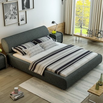 H623-high quality upholstered fabric bed made by china luxury and modern furniture factory and company-furbyme