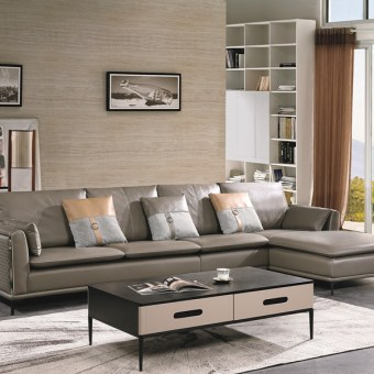 jxf3258 China Modern High end Design Luxury Living Room Furniture Leather Sofa