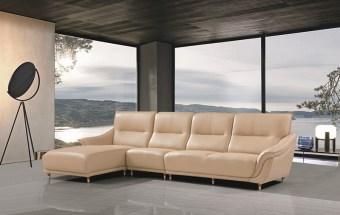 jxf3268 China Modern High end Design Luxury Living Room Furniture Genuine Leather Sofa L Shaped Sofa