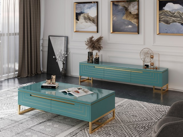 byf461 China Modern High End Living Room Furniture Coffee Table TV Cabinet