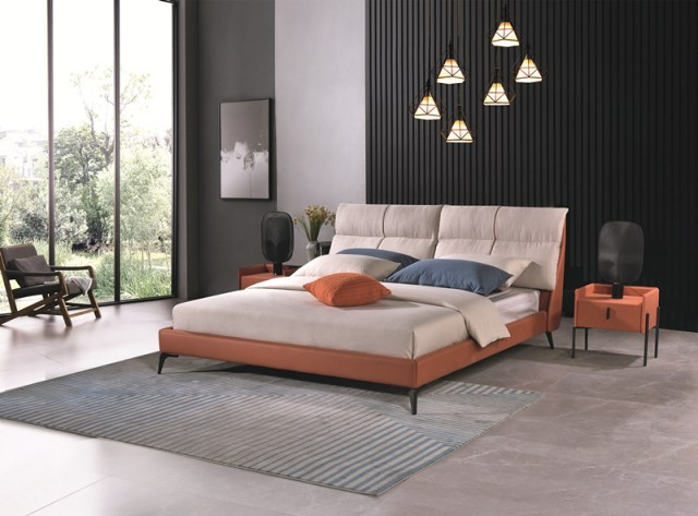 jx6518 China Modern Home Bedroom Furniture Double Bed