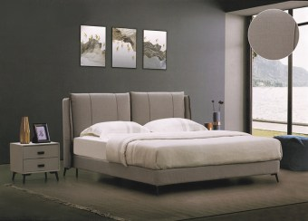 jxf6528 China Modern High End Luxury design Bedroom Furniture Double Bed Fabric Bed