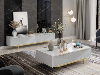 byf463China Modern High end Design Luxury Living Room Furniture Center Table TV Cabinet