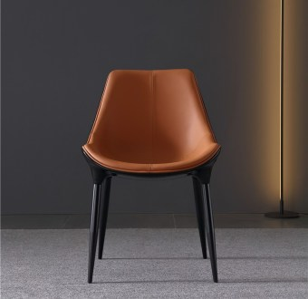 dkf36-china modern design home kitchen metal leather dining chair supplier manufacturer-furbyme (1)