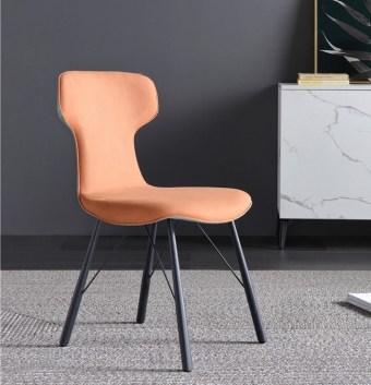 dkf71-china modern design home kitchen metal fabric dining chair supplier manufacturer-furbyme (2)
