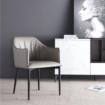 dkf78-china modern design home kitchen metal leather dining chair supplier manufacturer-furbyme (1)
