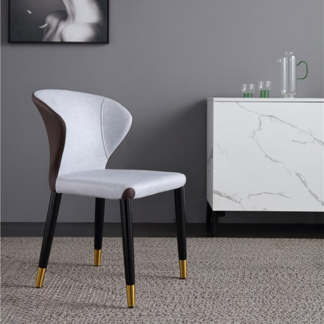 dkf81-china modern design home kitchen metal leather fabric dining chair supplier manufacturer-furbyme (3)