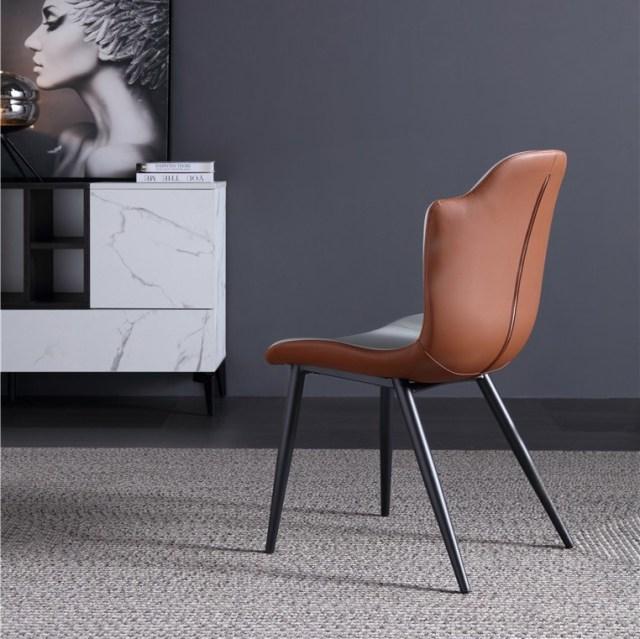 dkf85-china modern design home kitchen metal leather dining chair supplier manufacturer-furbyme (1)