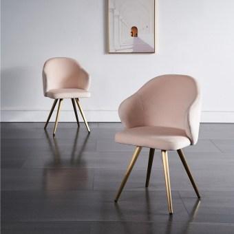 dkf86-china modern design home kitchen metal fabric dining chair supplier manufacturer-furbyme (1)