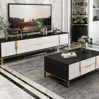19-68china luxury home furniture storable metal wood coffee table tv cabinet manufacturer supplier-furbyme (3)
