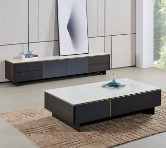 212china luxury home furniture storable metal tempered glass countertop tv cabinet coffee table manufacturer supplier factory-furbyme (5)