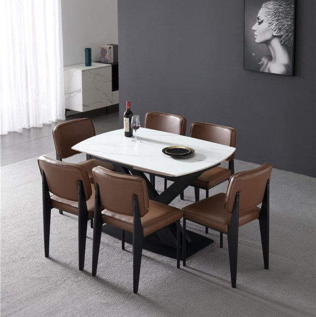 501-china modern luxury home furniture metal sintered stone mable top expandable dining table supplier manufacturer factory compan (3)