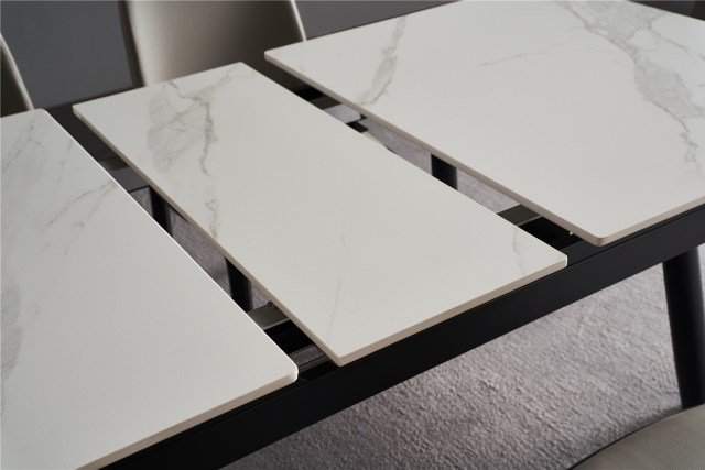 504china modern luxury home furniture metal sintered stone mable top expandable dining table supplier manufacturer factory company-furbyme (5)