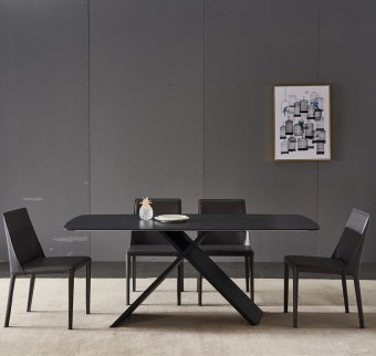 dkf711-china modern luxury home furniture metal slate mable top kitchen dining table supplier manufacturer factory company-furbyme (1)