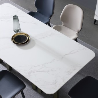 dkf720-china modern luxury home furniture metal slate mable top kitchen dining table supplier manufacturer factory company-furbyme (1)