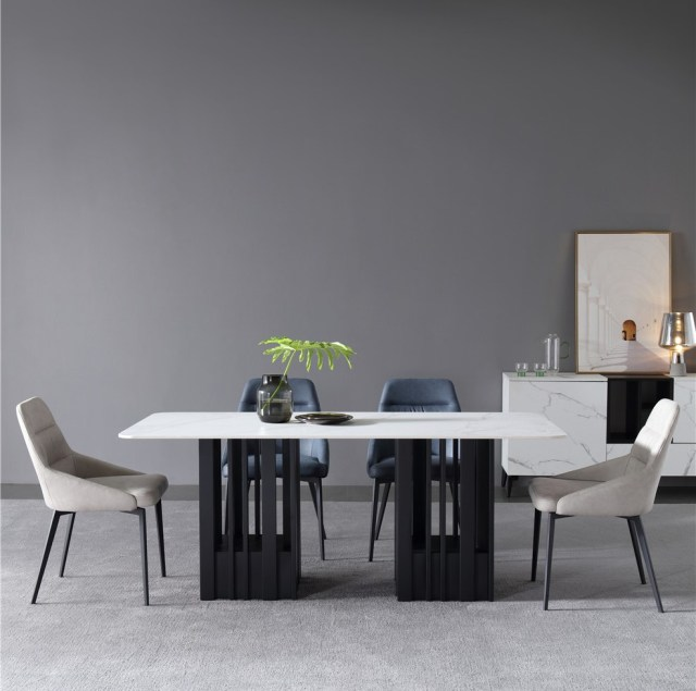 dkf733-china modern luxury home furniture metal slate mable top kitchen dining table supplier manufacturer factory company-furbyme (1)