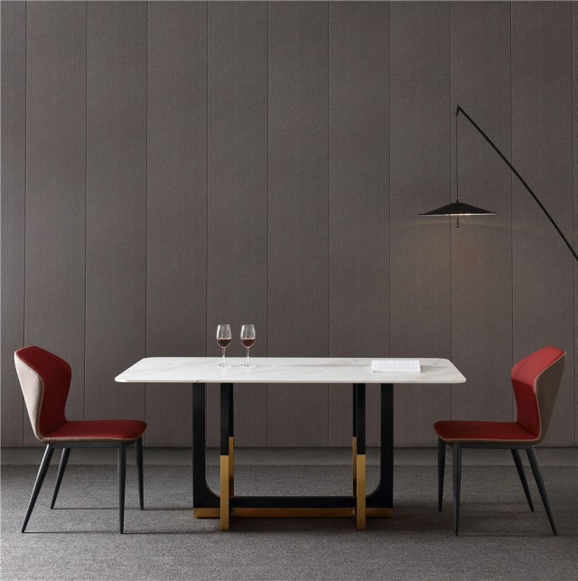 dkf750-china modern luxury home furniture metal slate mable top kitchen dining table supplier manufacturer factory company-furbyme (4)
