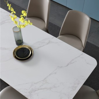 dkf752-china modern luxury home furniture metal slate mable top kitchen dining table supplier manufacturer factory company-furbyme (5)