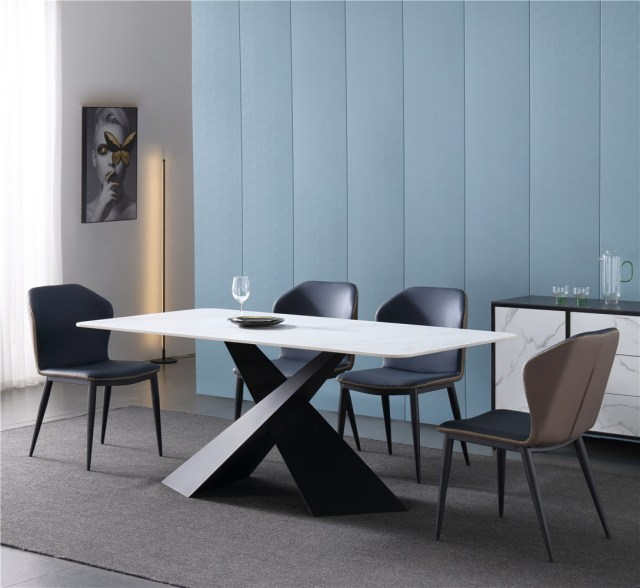 dkf757-china modern luxury home furniture metal slate mable top kitchen dining table supplier manufacturer factory company-furbyme (4)