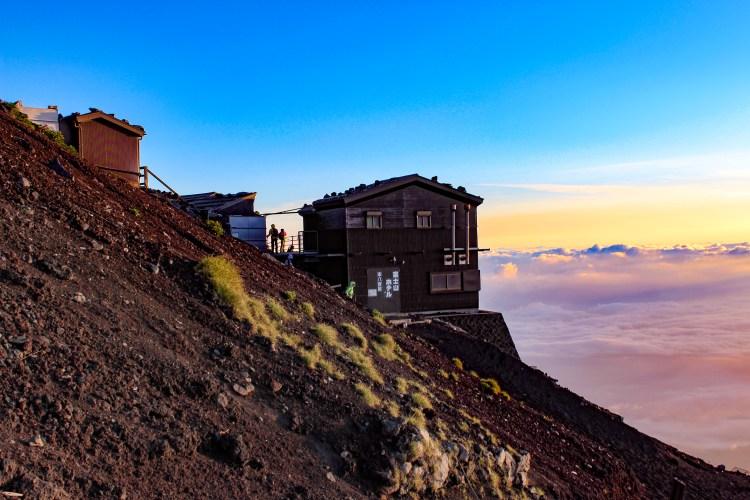 Un refuge au mont Fuji