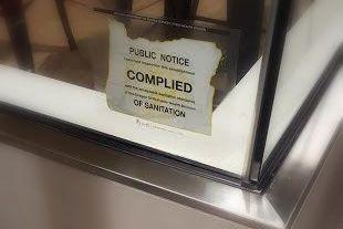 Restaurant Complied sticker