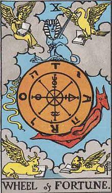 運命の輪のタロットカード