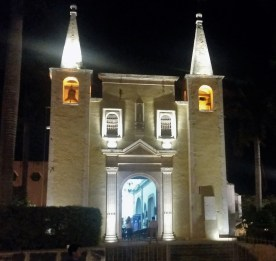 Spotted this quait church at night -- the bells are still rung by hand by that rope you can barely see on the left side. It took all my willpower not to pull it and run.