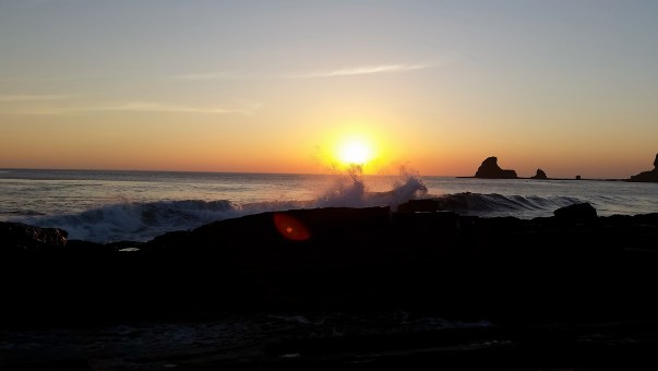 playa maderas sunset