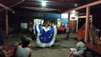 a traditional dance at Puesta del Sol