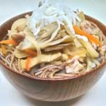奥会津伝統の味『奥会津風かけ蕎麦』のレシピと作り方