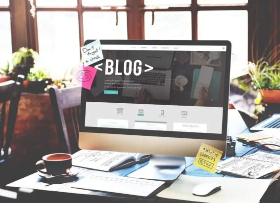 blog on screen