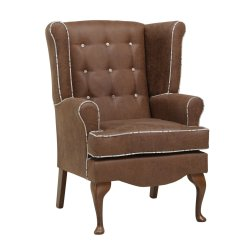 Unusual Chair Company Chichester Leather Images Anderson Wingback With Button Back Furncare