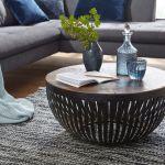 Wohnling Couchtisch Nisha 70x33x70 Cm Holz Metall Wohnzimmertisch Industrial