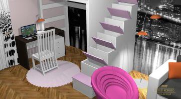 Schowkowe schody do antresoli