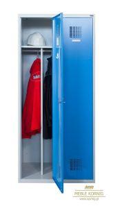 Szaro-niebieska szafka BHP 80 cm z dwoma modułami 40 cm