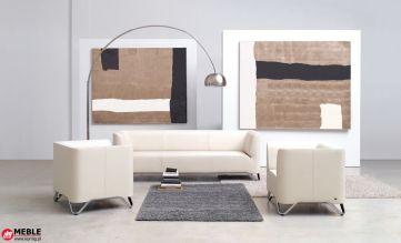 Miękka sofa trzy osobowa z dwoma fotelami Softbox