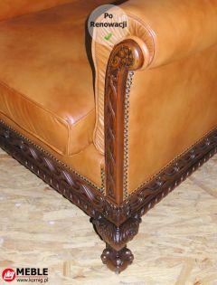 Narożnik fotela po renowacji