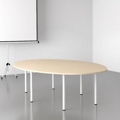 Stół Fors elipsa na białych nogach
