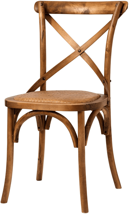 Simple Wooden Dinner Chair Distressed Finish by Nordal