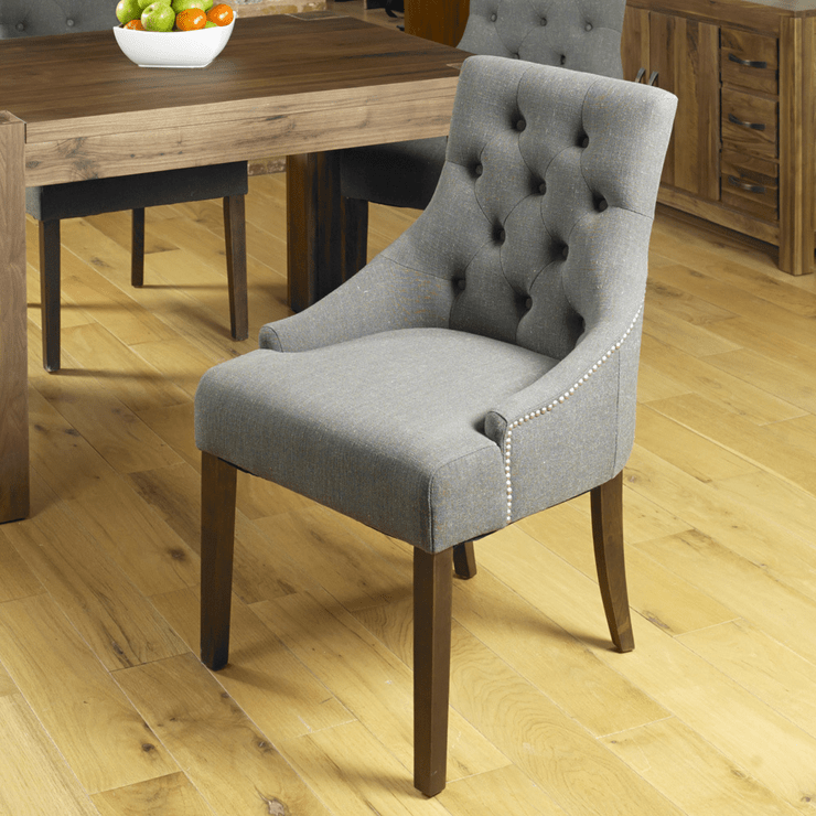 grey upholstered dining chairs uk christmas chair covers at dollar tree shiro walnut dark image 5 previous next click to enlarge