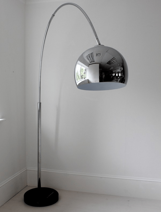 Arched Chrome Floor Lamp