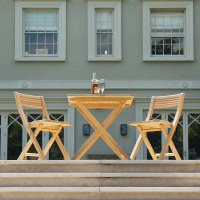 Roble Folding Patio Set for Two by Alexander Rose   Garden ...