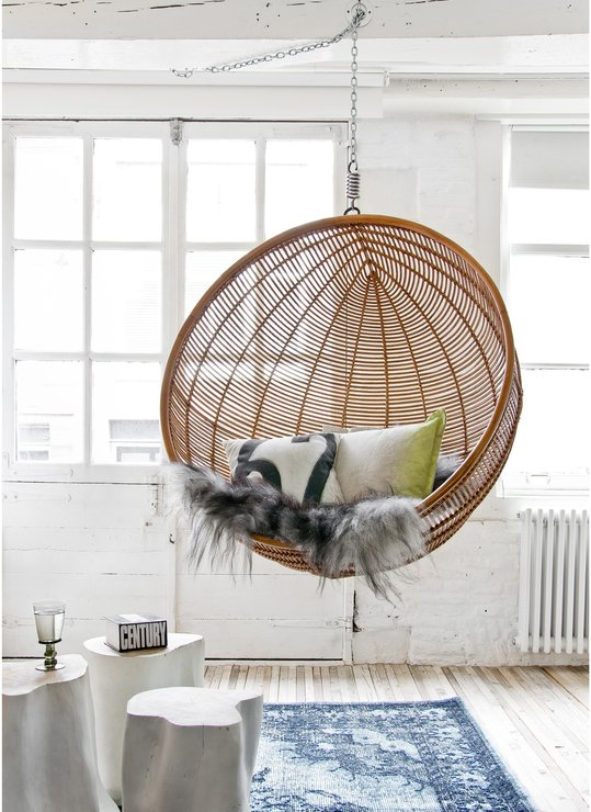 bedroom hanging chair uk childrens wooden rattan bowl in natural | chairs