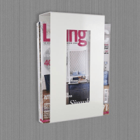 Contemporary Wall Mounted Metal Magazine Rack - White ...