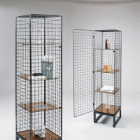 Seletti Narrow Wire Mesh Cabinet | Sideboards & display ...